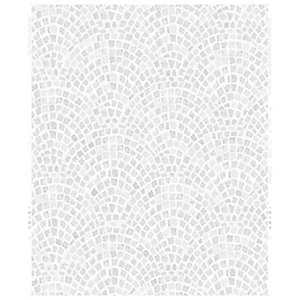 Image of Contour Trajan Silver Decorative Wallpaper - 10m