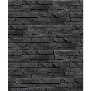 Superfresco Easy Odysee Black Decorative Wallpaper - 10m