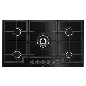 AEG 90cm 5 Burner Gas Hob HKB95540NB