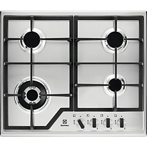 Image of Electrolux 60cm 4 Burner Gas Stainless Steel Hob KGS6436X
