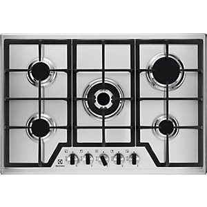 Image of Electrolux 75cm 5 Burner Gas Stainless Steel Hob KGS7536X