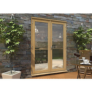 Image of Rohden Pattern 10 Unfinished Oak French Doors - 5ft