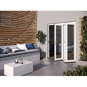 Jeld-Wen Bedgebury Finished Solid Hardwood Patio Bifold Door Set White