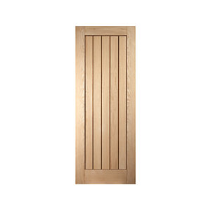 Jeld-wen Geneva Internal Oak Recessed Cottage 5 Panel Door - 1981 x 610mm