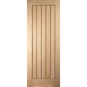 Jeld-Wen Cottage Recessed Oak  Internal Door - 1981mm x 686mm