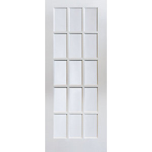 Jeld-Wen 15 Lite Clear Glazed White MDF Internal Door - 1981mm x 610mm