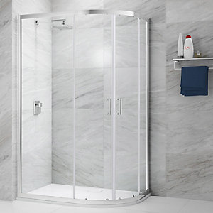 Nexa By Merlyn 6mm Offset Quadrant 2 Door Sliding Shower Enclosure - 1200 X 800mm