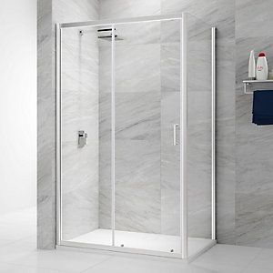 Nexa By Merlyn 6mm Chrome Framed Sliding Shower Door Only - 1100mm