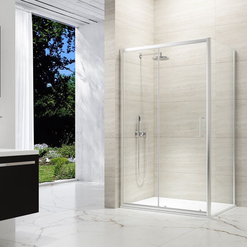8mm Chrome Framed Sliding Shower Door
