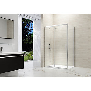 Nexa By Merlyn 8mm Chrome Framed Sliding Shower Door Only - 1200mm