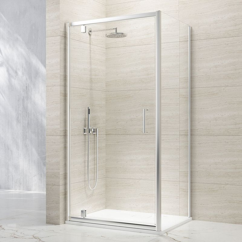 8mm Pivot Chrome Framed Shower Door