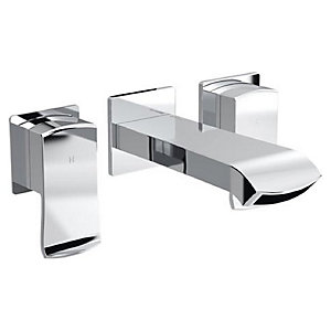 Bristan Descent 182mm 3 Hole Deck Wall Mounted Bath Mixer Tap - Chrome