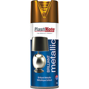 Plastikote Brilliant Metallic Copper Spray - 400ml