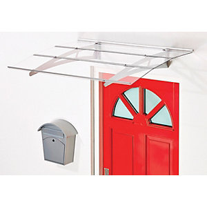 Superroof Madrid Door Canopy Silver 1400 x 880mm
