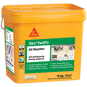 Image of Sika Fast Fix All Weather Jointing Paving Compound - Buff 15kg