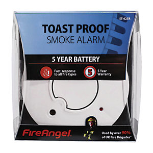 FireAngel Toast Proof Smoke Alarm 5 Year Battery