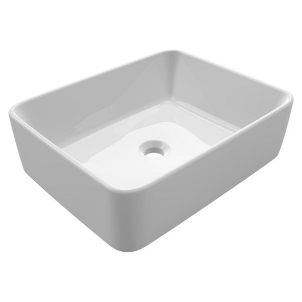 Wickes Meleti Square Countertop Bathroom Basin - 480mm