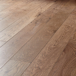 Style Dark Oak Solid Wood Flooring - 1.5m2 Pack