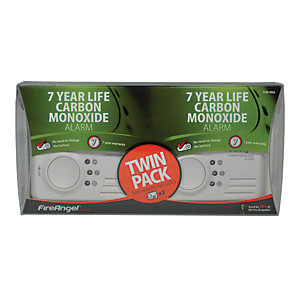 Fireangel Carbon Monoxide Alarm - Sealed for Life Battery - Twin Pack