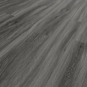 Image of Novocore Ascot Dark Grey Oak Rigid Luxury Vinyl Flooring Tiles - 2.562m2 Pack