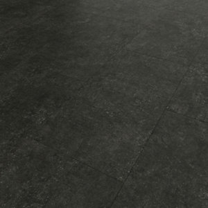 Novocore Charcoal Tile Effect Luxury Vinyl Click Flooring - 2.56m2 Pack