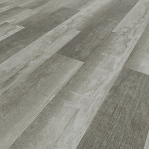 Image of Novocore Ascot Distressed Dark Grey Rigid Luxury Vinyl Flooring Tiles - 2.562m2 Pack