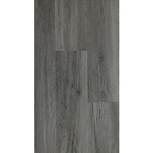 Novocore Dark Grey Oak Luxury Vinyl Click Flooring Sample