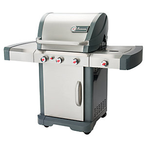 Landmann Avalon 3.1 Stainless Steel Gas BBQ - Silver