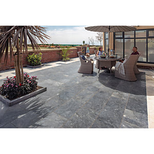 Marshalls Lazaro Marble Paving Patio Pack - Smooth Ocean 12.32m2