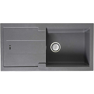 Carron Phoenix Bali 105 1 Bowl Composite Grey Sink