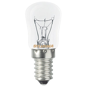 Sylvania Incandescent Non Dimmable Pygmy E14 Refrigerator Light Bulb - 25W
