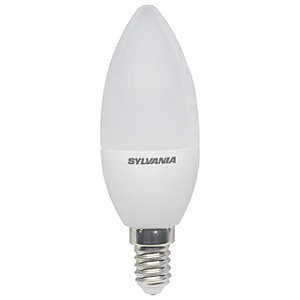 Sylvania LED Non Dimmable Frosted Candle E14 Light Bulb - 3W