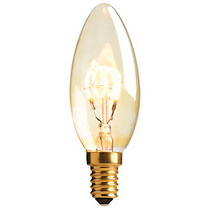 Sylvania LED Non Dimmable Gold Filament Candle E27 Light Bulb - 2.3W
