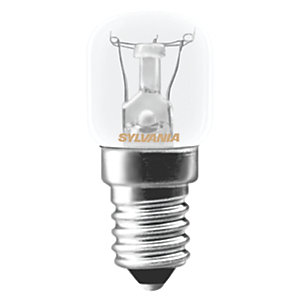 Sylvania Incandescent Non Dimmable Pigmy E14 Oven Light Bulb - 15W