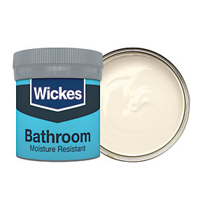 Wickes Ivory - No. 400 Bathroom Soft Sheen Emulsion Paint Tester Pot - 50ml
