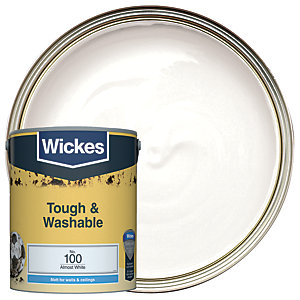 Wickes Almost White - No. 100 Tough & Washable Matt Emulsion Paint - 5L