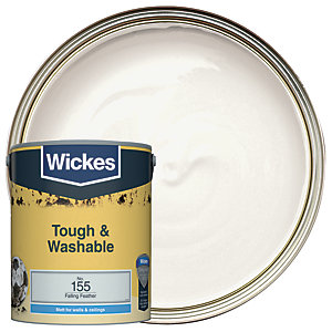 Wickes Falling Feather - No. 155 Tough & Washable Matt Emulsion Paint - 5L