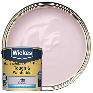 Wickes Dusky Purple - No. 700 Tough & Washable Matt Emulsion Paint - 2.5L