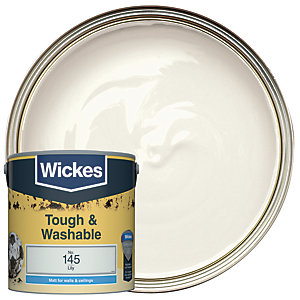 Wickes Lily - No. 145 Tough & Washable Matt Emulsion Paint - 2.5L
