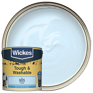 Wickes Powder - No. 905 Tough & Washable Matt Emulsion Paint - 2.5L