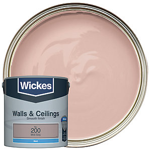 Wickes Mink Grey - No. 200 Vinyl Matt Emulsion Paint - 2.5L