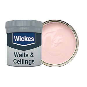 Image of Wickes Poetic Pink - No. 605 Vinyl Matt Emulsion Paint Tester Pot - 50ml