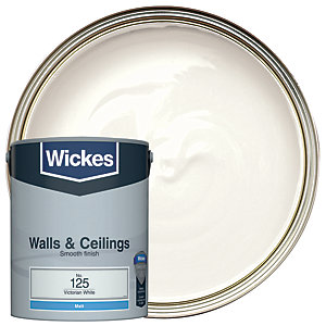 Wickes Victorian White - No. 125 Vinyl Matt Emulsion Paint - 5L