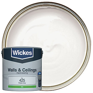 Wickes Pebble Grey - No. 425 Vinyl Silk Emulsion Paint - 2.5L