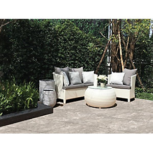 Image of Sandsend Silver Matt Glazed Outdoor Porcelain Tile 600 x 600mm