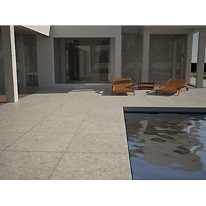 Image of Terrazzo Grigio Matt Glazed Outdoor Porcelain Tile 600 x 600mm