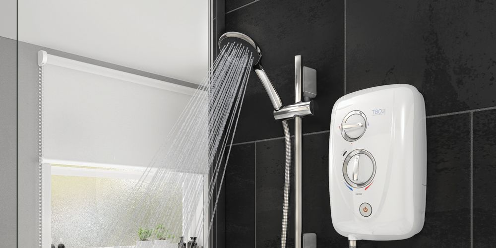 Triton T80 Easi-fit+ Thermo White Electric Shower - 8.5kW