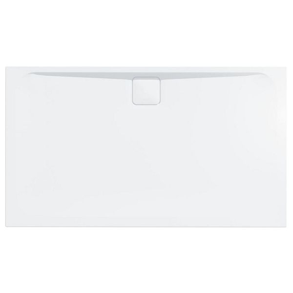 25mm Rectangular Low Level White Tray