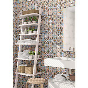 Wickes Central Park Patterned Ceramic Wall & Floor Tile Sample 316 x 316mm