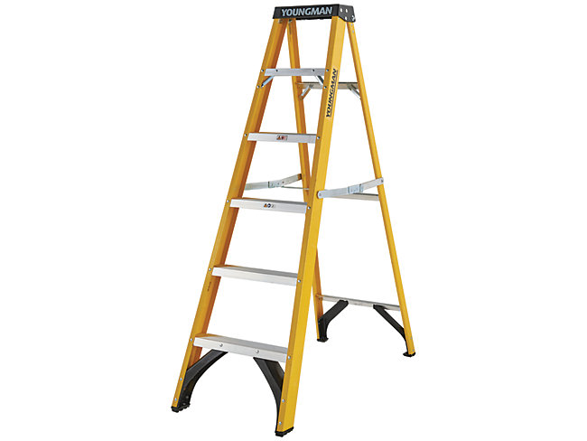 Youngman 6 Tread Fibreglass Stepladder